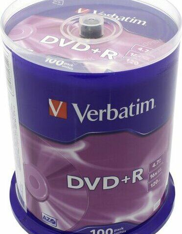 DVD+R Disc Verbatim   4.7Gb  16x  уп. 100 шт на  шпинделе  43551