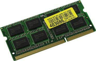 Neo Forza NMSO340C81-1600DA10 DDR3 SODIMM 4Gb PC3-12800  CL11 for NoteBook
